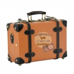 กระเป๋าเดินทางวินเทจ รุ่น retro brown น้ำตาลคาดดำ ขนาด 12 นิ้ว