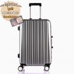กระเป๋าเดินทางไฟเบอร์ รุ่น Aluminium เงิน ขนาด 24 นิ้ว