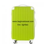กระเป๋าเดินทางล้อลากไฟเบอร์ รุ่น colorful เขียวขอบขาว ขนาด 20/24/28 นิ้ว