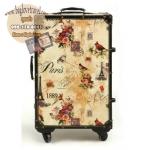 กระเป๋าเดินทางวินเทจ รุ่น vintage classic ลายกราฟฟิค ขนาด 24 นิ้ว