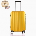 กระเป๋าเดินทางไฟเบอร์ รุ่น Aluminium เหลือง ขนาด 20 นิ้ว