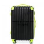 กระเป๋าเดินทางล้อลากไฟเบอร์ รุ่น colorful ดำขอบเขียว ขนาด 20/24/28 นิ้ว