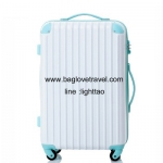กระเป๋าเดินทางล้อลากไฟเบอร์ รุ่น colorful ขาวขอบฟ้า ขนาด 20/24/28 นิ้ว