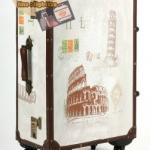 กระเป๋าเดินทางวินเทจ รุ่น vintage classic ลายเมืองอิตาลี ขนาด 20 นิ้ว