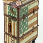 กระเป๋าเดินทางวินเทจ รุ่น vintage classic ลายธงชาติอเมริกา ขนาด 24 นิ้ว