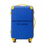 กระเป๋าเดินทางล้อลากไฟเบอร์ รุ่น colorful น้ำเงินขอบเหลือง ขนาด 20/24/28 นิ้ว