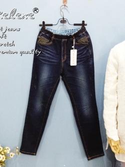 Relexe denim กางเกงยีนส์เนื้อดีพรีเมียม สีฟอกสวย ผ้ายืดนิ่ม ใส่สบายมากๆ