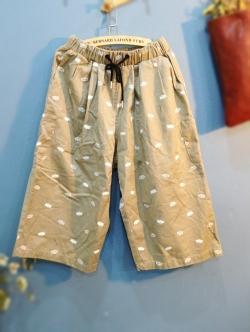 กางเกงทรงขากระบอก 9 ส่วน ลายค้างคาว
