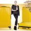 กระเป๋าเดินทางไฟเบอร์ รุ่น Aluminium เหลือง ขนาด 28 นิ้ว thumbnail 5