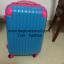 กระเป๋าเดินทางล้อลากไฟเบอร์ รุ่น colorful ฟ้าเข้มขอบชมพู ขนาด 20/24/28 นิ้ว thumbnail 3