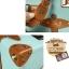 กระเป๋าเดินทางล้อลากวินเทจ รุ่น vintage retro สี Blue เซ็ตคู่ ขนาด 12+24 นิ้ว thumbnail 14