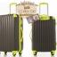 กระเป๋าเดินทางล้อลากไฟเบอร์ รุ่น colorful เทาขอบเขียว ขนาด 20/24/28 นิ้ว thumbnail 3