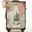 กระเป๋าเดินทางวินเทจ รุ่น vintage classic ลายเมืองยุโรป ขนาด 22 นิ้ว thumbnail 3