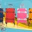 กระเป๋าเดินทางวินเทจ รุ่น vintage retro ชมพูคาดขาว เซ็ตคู่ ขนาด 12+22 นิ้ว thumbnail 14