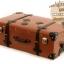 กระเป๋าเดินทางวินเทจ รุ่น retro brown น้ำตาลคาดดำ ขนาด 20 นิ้ว thumbnail 4