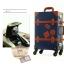 กระเป๋าเดินทางวินเทจ รุ่น retro brown น้ำเงินคาดน้ำตาล ขนาด 20 นิ้ว thumbnail 7