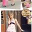 """กระเป๋าเดินทางไฟเบอร์ PC+ABS Lovely Polka dot สีชมพูเข้มลายจุดขาว (ไซต์ 18"""",22"""",26"""") thumbnail 4"""