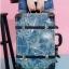 กระเป๋าเดินทางวินเทจ รุ่น เรโทรยีนส์ สีฟ้าเขียว ไซต์ 22 นิ้ว thumbnail 4
