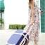 กระเป๋าเดินทางวินเทจ รุ่น colorful น้ำเงินเข้มคาดชมพูอ่อน ขนาด 20 นิ้ว thumbnail 4