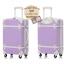 กระเป๋าเดินทางวินเทจ รุ่น colorful ม่วงอ่อนคาดขาว ขนาด 24 นิ้ว thumbnail 3