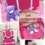 กระเป๋าเดินทางวินเทจ รุ่น spring colorful แดงคาดน้ำตาล ขนาด 22 นิ้ว thumbnail 3