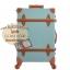 กระเป๋าเดินทางล้อลากวินเทจ รุ่น vintage retro สี Blue เซ็ตคู่ ขนาด 12+24 นิ้ว thumbnail 15