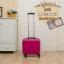 กระเป๋าเดินทางใบเล็ก รุ่น basic สีชมพูเข้ม ขนาด 16 นิ้ว thumbnail 1