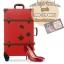 กระเป๋าเดินทางวินเทจ รุ่น retro brown แดงเข้มคาดน้ำตาล ขนาด 24 นิ้ว thumbnail 1