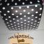 """กระเป๋าเดินทางไฟเบอร์ PC+ABS Lovely Polka dot สีดำ ลายจุดขาว (ไซต์ 18"""",22"""",26"""") thumbnail 4"""