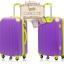 กระเป๋าเดินทางล้อลากไฟเบอร์ รุ่น colorful ขม่วงขอบเขียว ขนาด 20/24/28 นิ้ว thumbnail 2