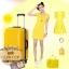 กระเป๋าเดินทางไฟเบอร์ รุ่น Aluminium เหลือง ขนาด 28 นิ้ว thumbnail 7