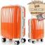 กระเป๋าเดินทางไฟเบอร์ รุ่น Aluminium ส้ม ขนาด 24 นิ้ว thumbnail 2