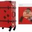 กระเป๋าเดินทางวินเทจ รุ่น retro brown แดงเข้มคาดน้ำตาล ขนาด 26 นิ้ว thumbnail 2