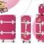 กระเป๋าเดินทางวินเทจ รุ่น spring colorful ชมพูเข้มคาดขาว ขนาด 22 นิ้ว thumbnail 3