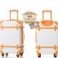 กระเป๋าเดินทางวินเทจ รุ่น colorful ขาวคาดน้ำตาล ขนาด 20 นิ้ว thumbnail 3