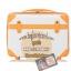 กระเป๋าเดินทางวินเทจ รุ่น colorful ขาวคาดน้ำตาล ขนาด 24 นิ้ว thumbnail 2