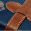 กระเป๋าเดินทางวินเทจ รุ่น retro brown น้ำเงินคาดน้ำตาล ขนาด 24 นิ้ว thumbnail 4