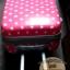 """กระเป๋าเดินทางไฟเบอร์ PC+ABS Lovely Polka dot สีชมพูเข้มลายจุดขาว (ไซต์ 18"""",22"""",26"""") thumbnail 6"""
