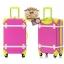 กระเป๋าเดินทางวินเทจ รุ่น colorful ชมพูคาดเขียว ขนาด 24 นิ้ว thumbnail 3