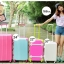 กระเป๋าเดินทางล้อลากไฟเบอร์ รุ่น colorful เทาขอบเขียว ขนาด 20/24/28 นิ้ว thumbnail 4