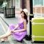 กระเป๋าเดินทางวินเทจ รุ่น colorful เขียวมะนาวคาดชมพูอ่อน ขนาด 22 นิ้ว thumbnail 3