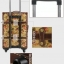 กระเป๋าเดินทางวินเทจ รุ่น vintage classic ลายดอกไม้ ขนาด 22 นิ้ว thumbnail 7