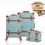 กระเป๋าเดินทางล้อลากวินเทจ รุ่น vintage retro สี Blue เซ็ตคู่ ขนาด 12+24 นิ้ว thumbnail 1