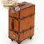 กระเป๋าเดินทางวินเทจ รุ่น vintage classic น้ำตาลส้มคาดน้ำตาล ขนาด 22 นิ้ว thumbnail 1