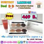 LANEIGE Pure Radiant Shadow 3 Color Palette 1 ตลับ แถมฟรี Laneige Snow Crystal Pure Lipgloss 3 g. no.107 Viel Rose