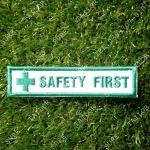 อาร์ม Safety First สี่เหลี่ยมผืนผ้า ขนาด 2.5 x 8.5 cm.