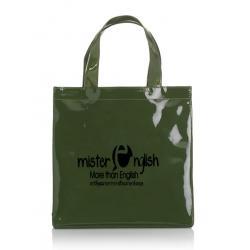 กระเป๋าหนังแก้วสีเขียวขี้ม้า