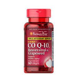 Puritan's Pride Q-SORB™ Co Q-10, Resveratrol & Grapeseed / 60 Rapid Release Softgels