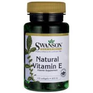 Swanson Premium Natural Vitamin E 400 IU / 100 Sgels