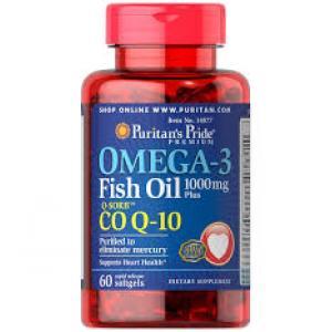 Puritan's Pride Omega-3 Fish Oil 1000 mg plus Co Q-10 30 mg / 60 Softgels